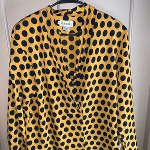 Mustard yellow polka dot shirt! Size 10